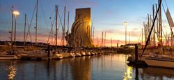 lisbon dock sunset