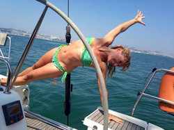 yoga sailing in lisbon