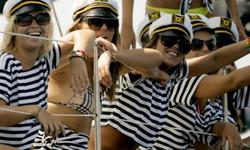 joy aboard the boat