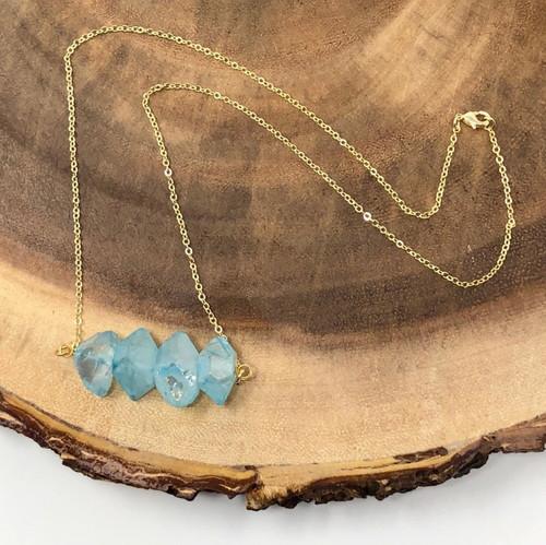 Raw Aura Quartz Crystal Necklace | Fashion By Sash Quartz Crystal Scp