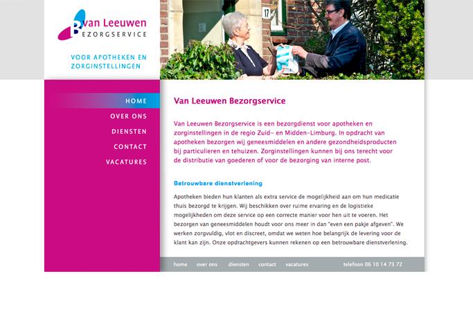 website van leeuwen bezorgservice