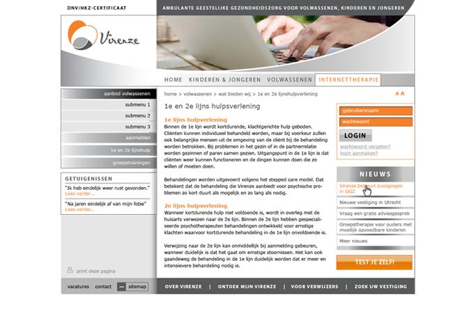 website Geestelijke gezondheidszorg