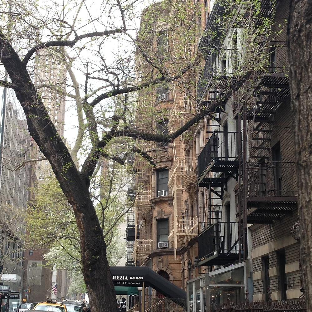 紐約第二大道小巷旁