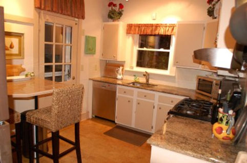 Kitchen after being staged