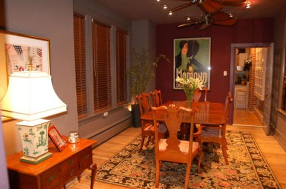 Dining room staged to sell