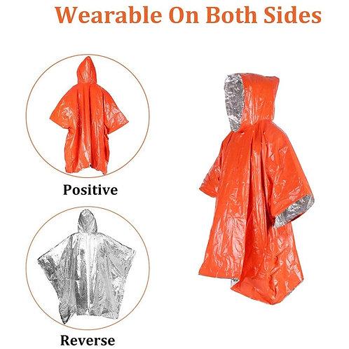 Emergency Thermal Mylar Rain Poncho