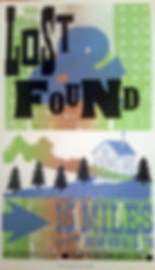 Lost and Found Letterpress Poster