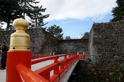aizu castle bridge bannister