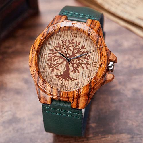 Natural Tree Wood Watch Quartz