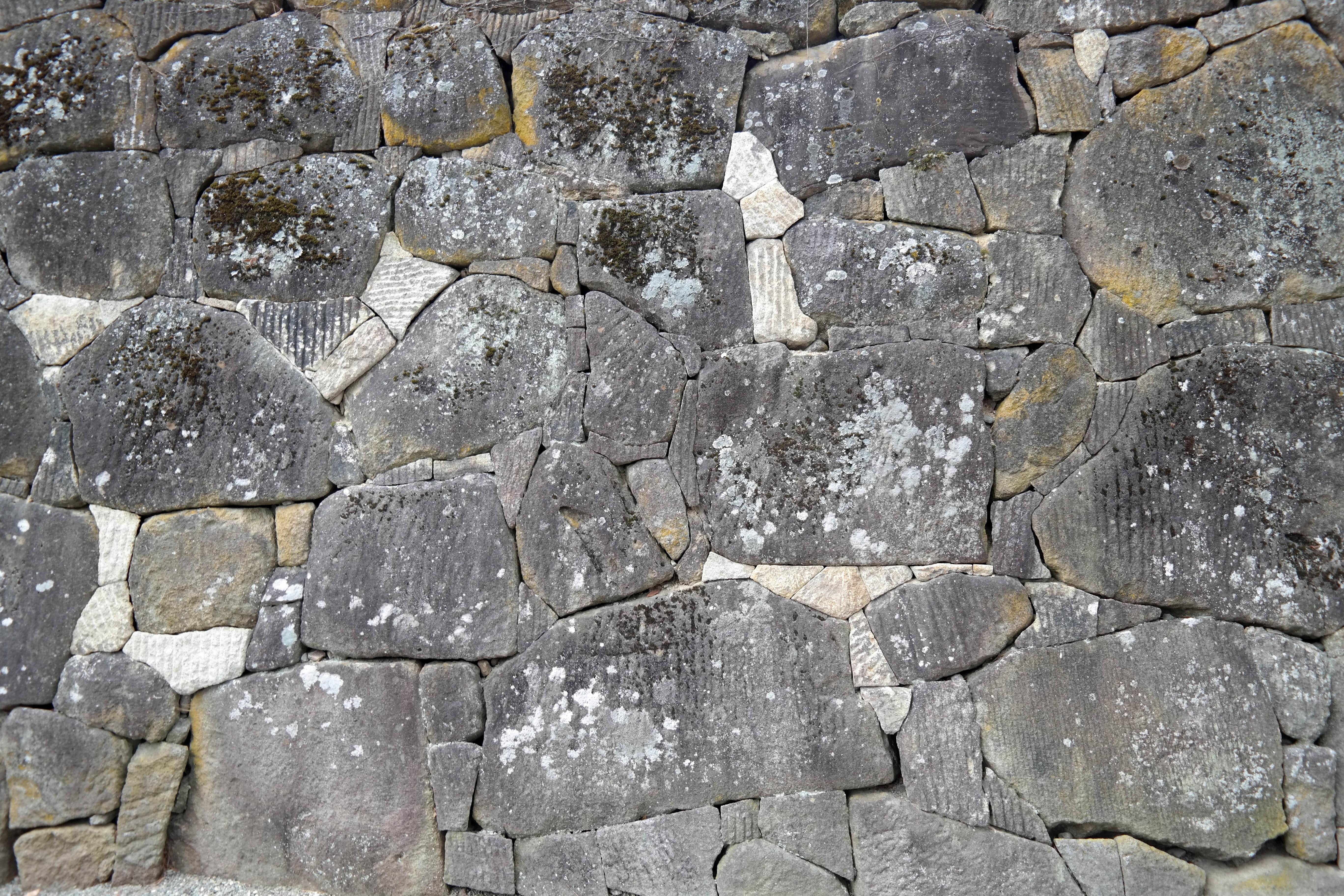 aizu castle stonework