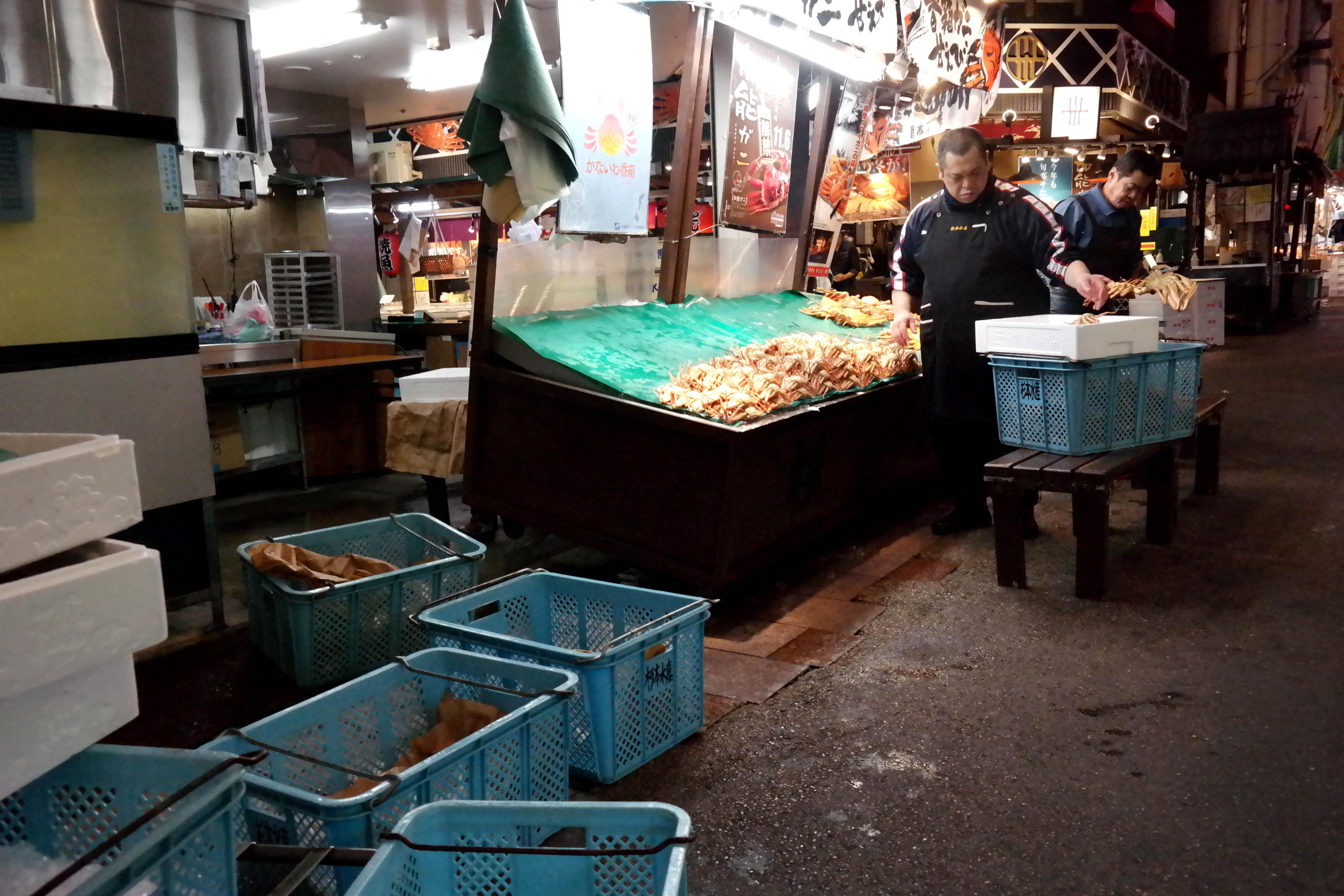 kanazawa fish market morning routine