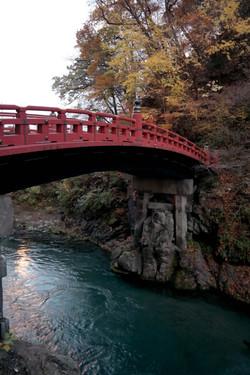nikko bridge at dusk