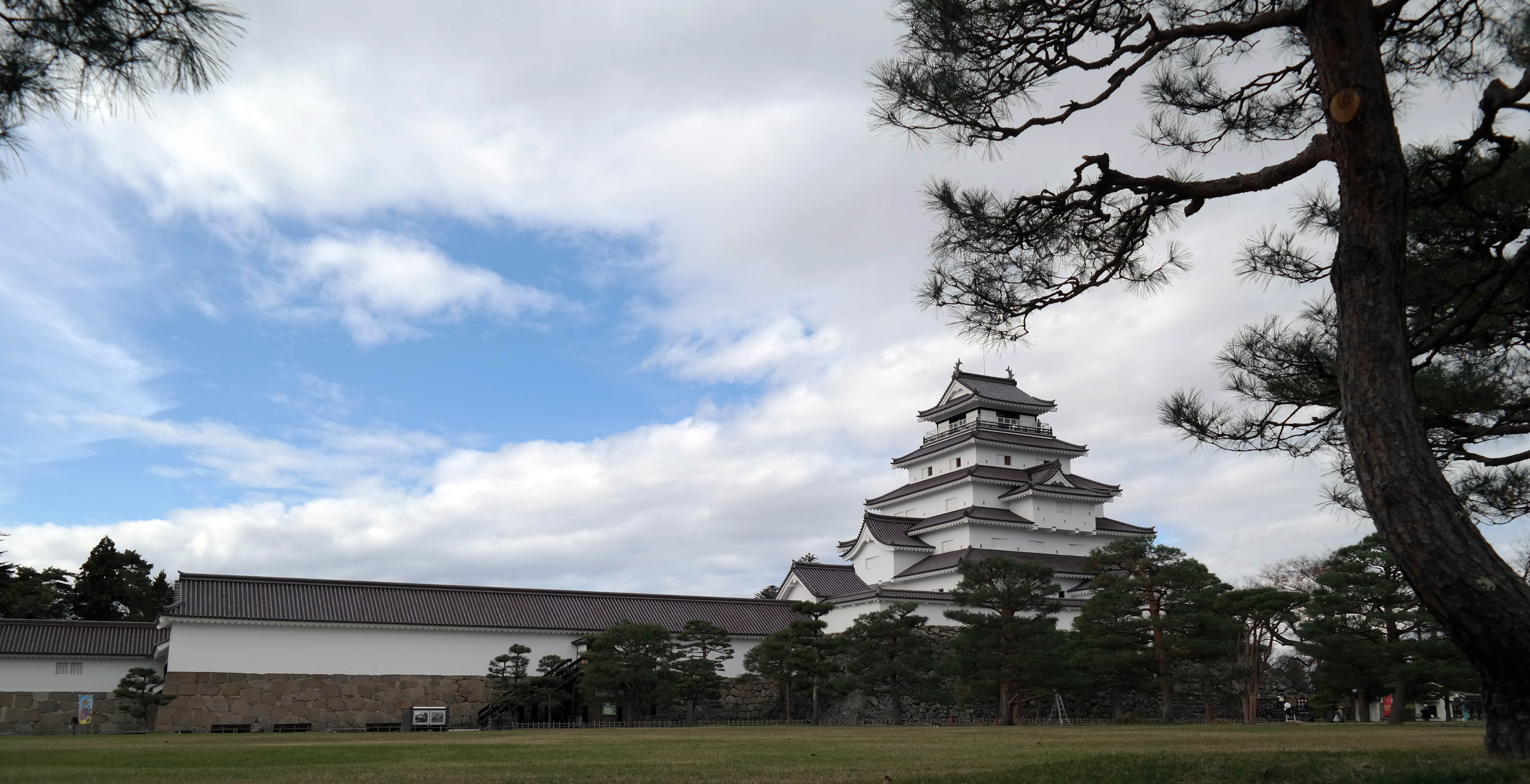 aizu castle long view
