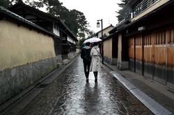 samurai district rainy day