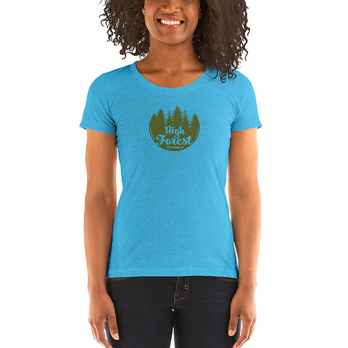 High Forest Tree Circle Ladies' short sleeve t-shirt