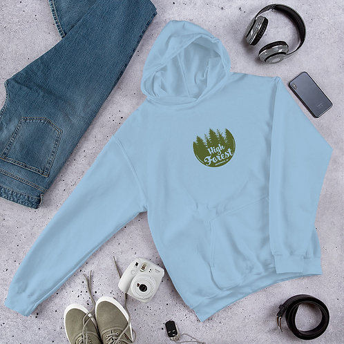 High Forest Tree Circle Unisex Hoodie