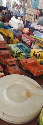 vintage toys, random materials
