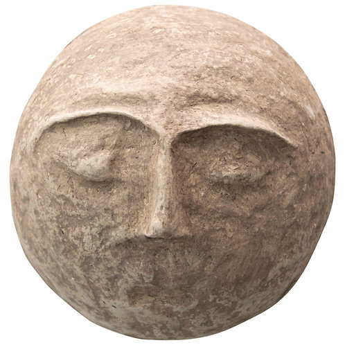 """10"""" Round Paper Mache Face Wall Decor (Each one will vary)"""