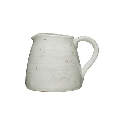 32 oz. Stoneware Pitcher with Reactive Glaze Finish (Each One Will Vary)