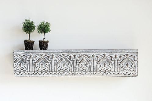 White & Grey Decorative Metal Wall Shelf