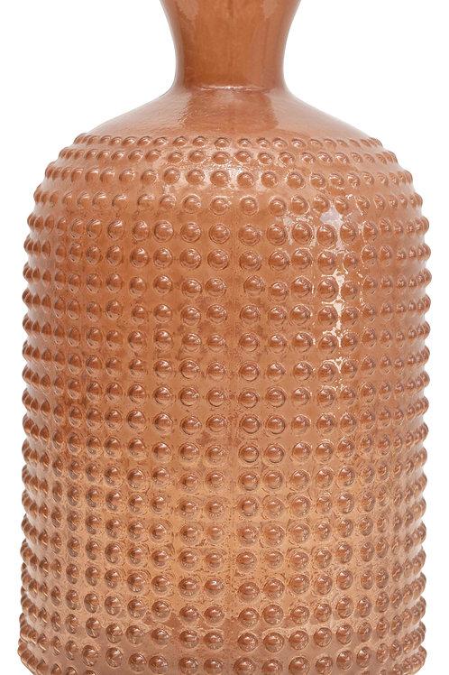 Glass Hobnail Bottle Vase