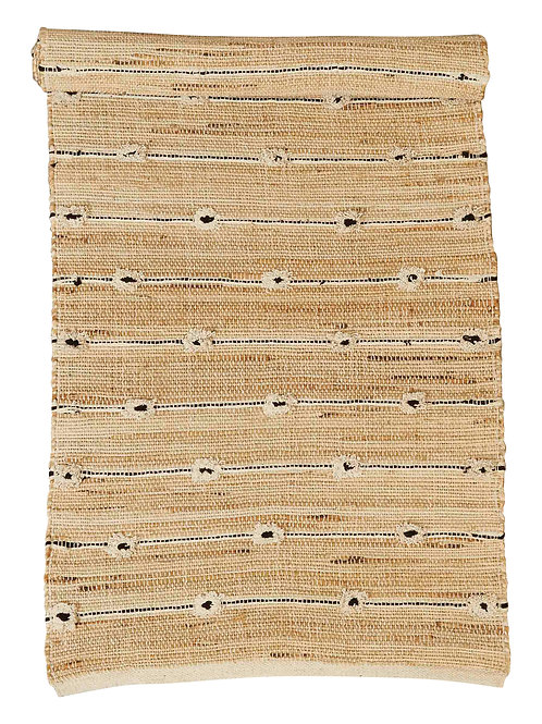 2.5' x 8' Handwoven Cotton & Jute Blend Tufted Runner Rug