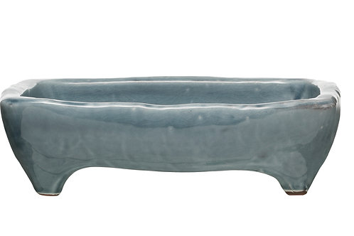 Footed Terracotta Tray with Distressed Finish (Each one will vary)