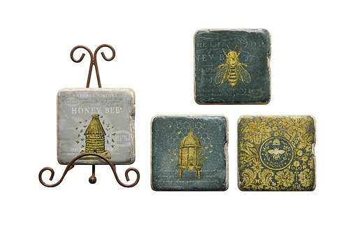 Coasters w/ Bees (5)