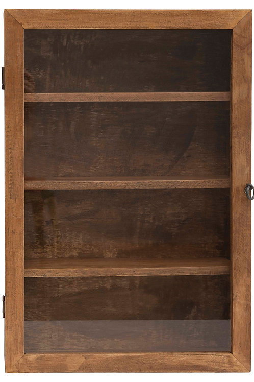 Mango Wood Cabinet with 4 Shelves (Hangs or Sits)
