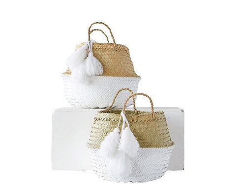 Palm Leaf Collapsible Baskets (2)