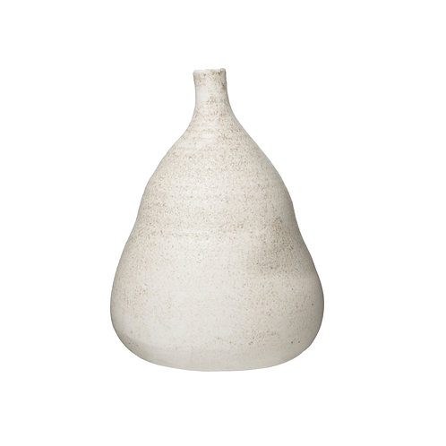 Large Textured Terracotta Vase with Narrow Top