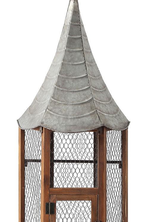 Metal & Wood Birdhouse