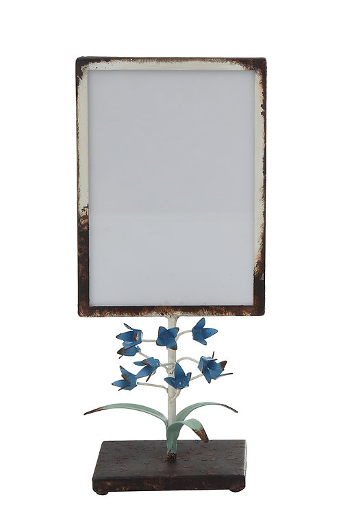 "Small Distressed Metal Photo Frame (Holds 5"" x 7"" Photo)"