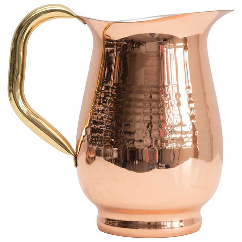 42 oz. Hammered Stainless Steel Pitcher