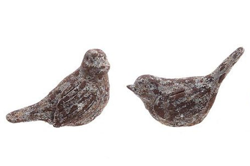 Resin Bird w/ Distressed Finish (4)