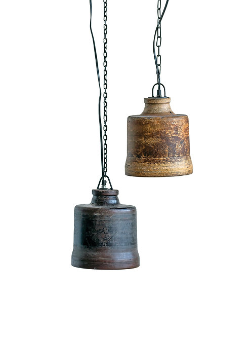 Found Fiberglass Hanging Pendant Light (Each one will vary)