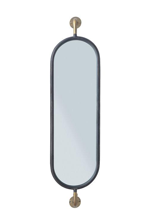 Swivel Wall Mount Metal Mirror with Brackets