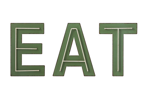 """Eat"" Metal Wall Decor (Set of 3 Styles)"