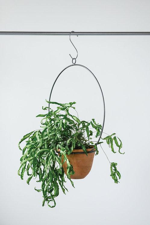 Hanging Terracotta Planter with Metal Hanger (Set of 2 Pieces)