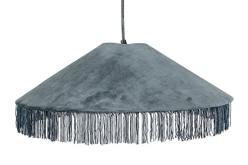 Cotton Velvet Pendant Light with Tassels