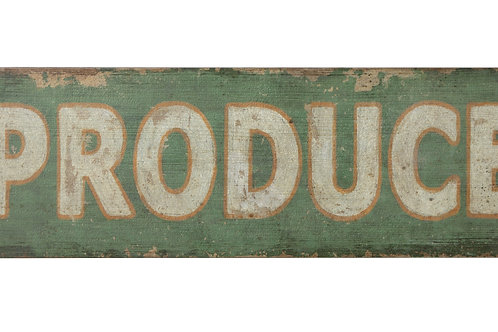 """Produce"" Vintage Reproduction Wood Wall Decor"