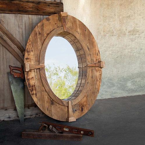 Oval Estate Window Frame Mirror