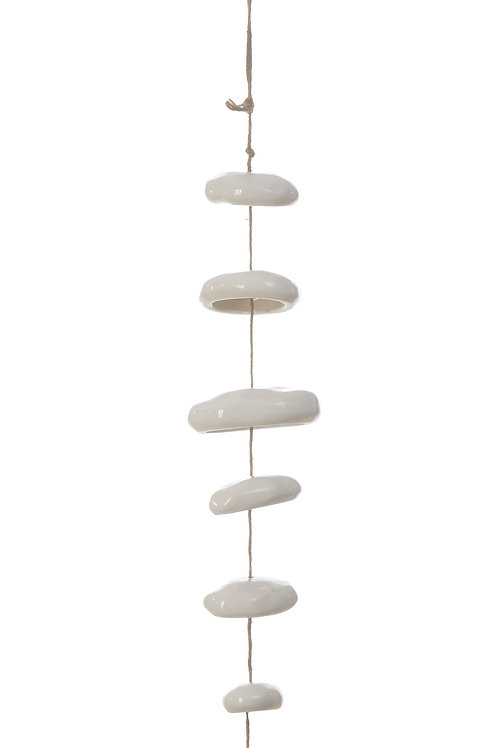 White Hanging Stoneware Sculpture