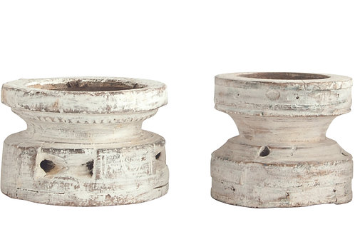Found Wood Pillar Candleholder (Each one will vary)