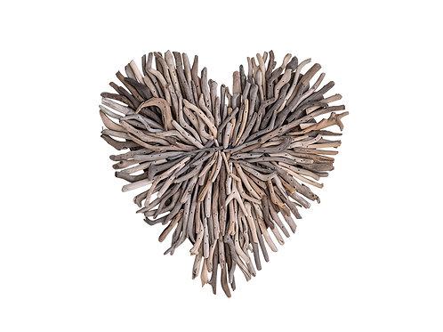 Driftwood Heart Shaped Wall Decor