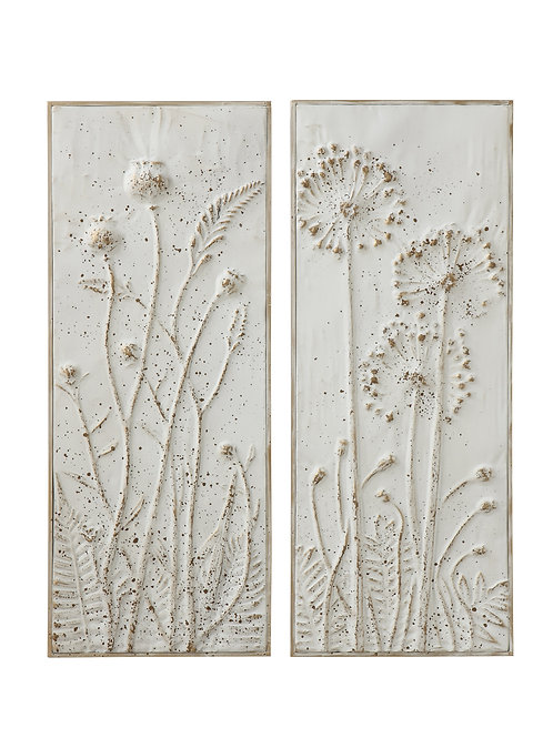 Metal Wall Decor with Flowers (Set of 2 Styles)