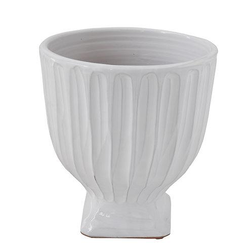 White Terracotta Planter