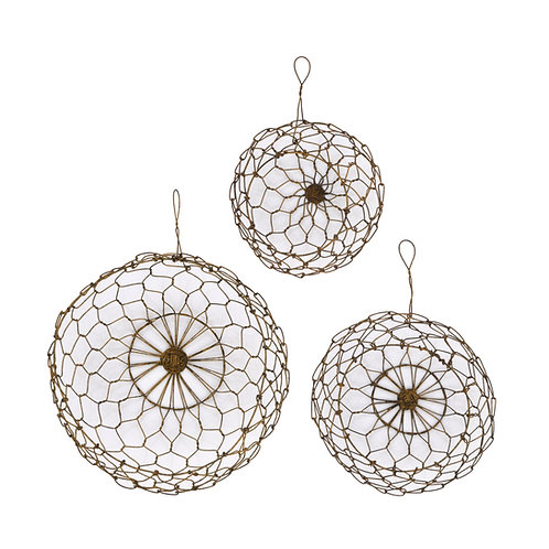 Round Wire Hanging Baskets (Set of 3 Sizes)
