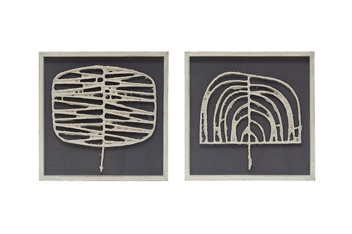 Handmade Abstract Paper Wall Decor in Shadowbox Frame (Set of 2 Styles)