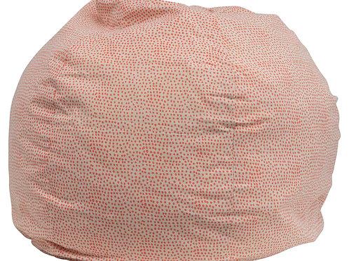 Cotton Printed Bean Bag Chair with Polka Dots